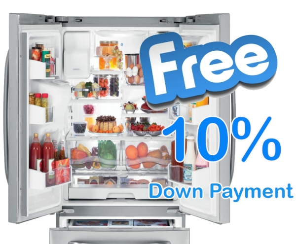 Get a free Refrigerator upon payment of 10% DP